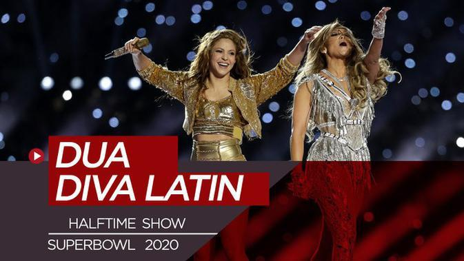 VIDEO: Jennifer Lopez dan Shakira, Goyang Publik American Football di Halftime Show Super Bowl 2020