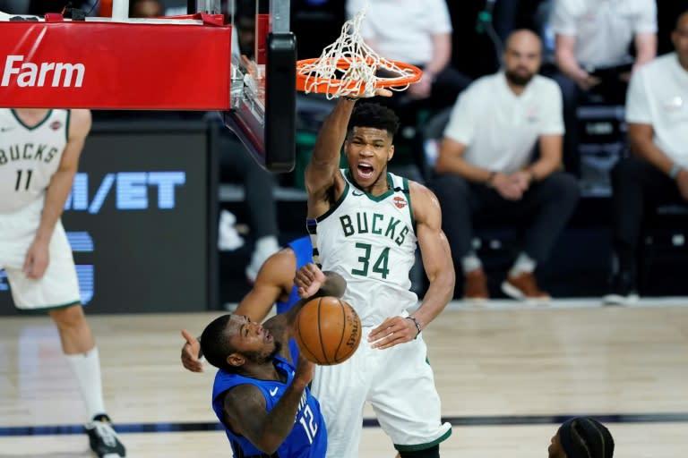 Bucks bounce back to level NBA series with Magic, Rockets, Heat win