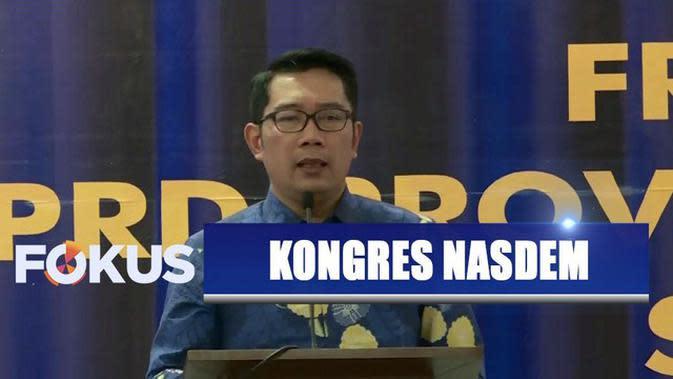 Menangkap Sinyal Politik Ridwan Kamil saat Datangi Kongres Partai Nasdem