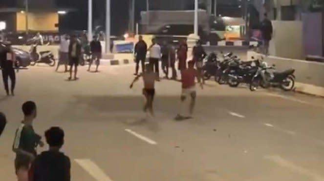 Viral balap lari liar di jalanan