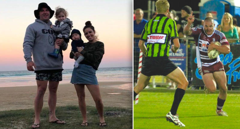 Sam was an avid rugby player several years ago, but now focuses on work and the gym. Source: Supplied/Amy Hambly