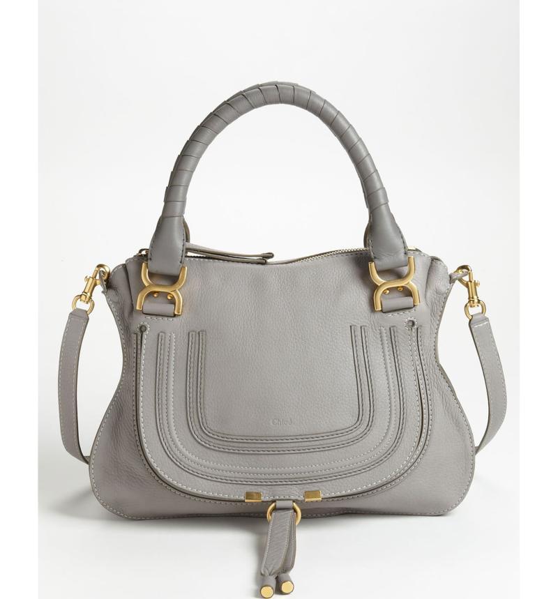 Chloe 'Medium Marcie' Leather Satchel. Image via Nordstrom.