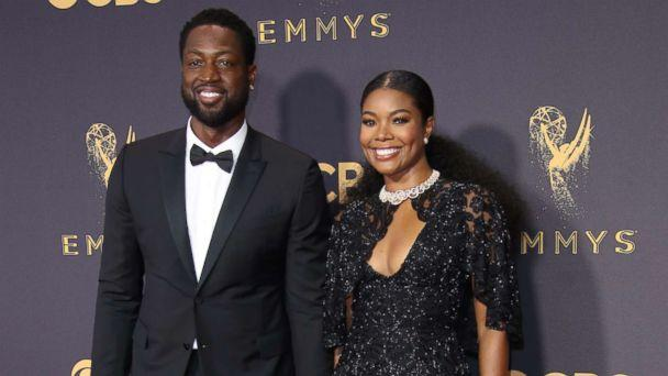 PHOTO: Dwyane Wade and Gabrielle Union arrive on the red carpet at the 69th Emmy Awards at the Microsoft Theater, Sept. 17, 2017, in Los Angeles. (Dan MacMedan/USA TODAY)