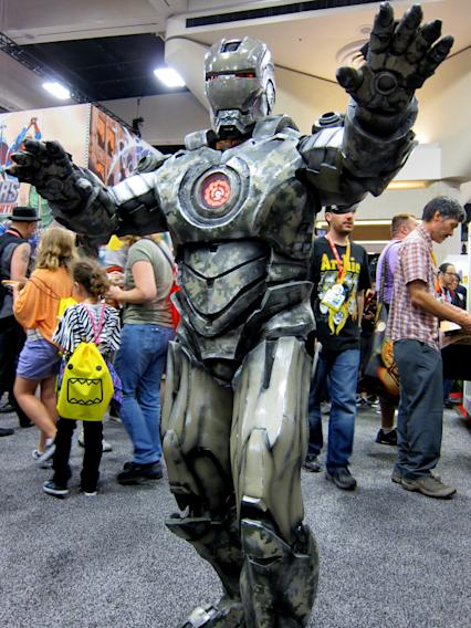 This Iron Man looks like he's seen some action - San Diego Comic-Con 2012
