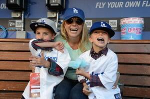 Watch Britney Bring Her Boys to Do the Smurf