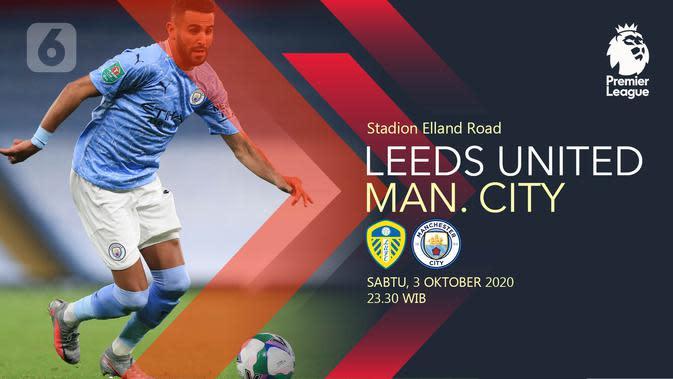 Leeds United vs Manchester City (Liputan6.com/Abdillah)