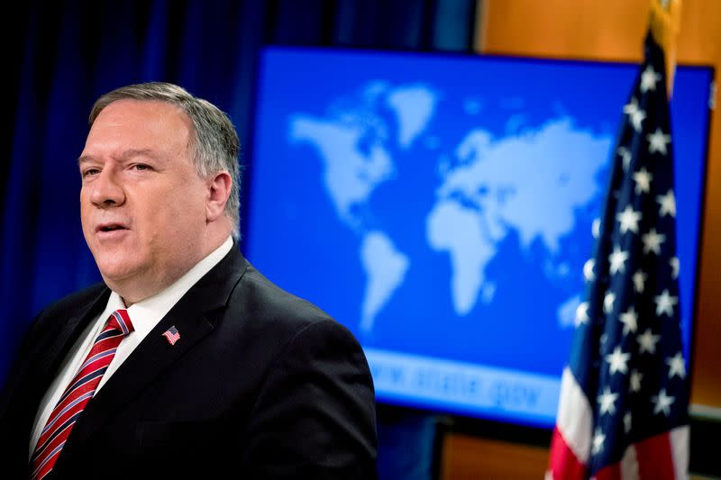 Pompeo warns China over interference with U.S. journalists in Hong Kong