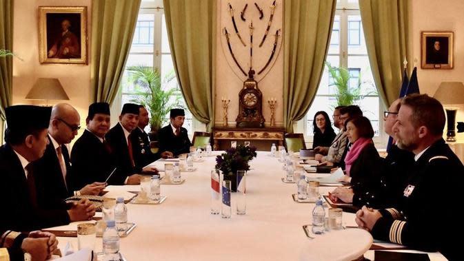 Prabowo Temui Menhan Prancis Bahas Penguatan Pertahanan
