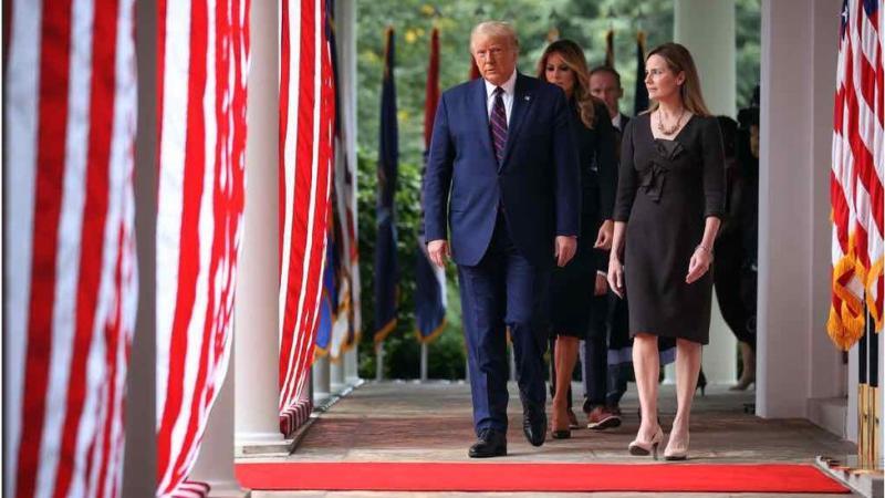 At a White House ceremony, Mr Trump announces his Supreme Court pick
