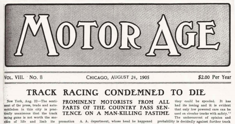 August 24: Demise of auto racing predicted on this date in 1905