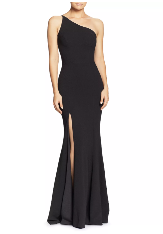 Dress the Population Amy One-Shoulder Gown. (Photo: Bloomingdale's)