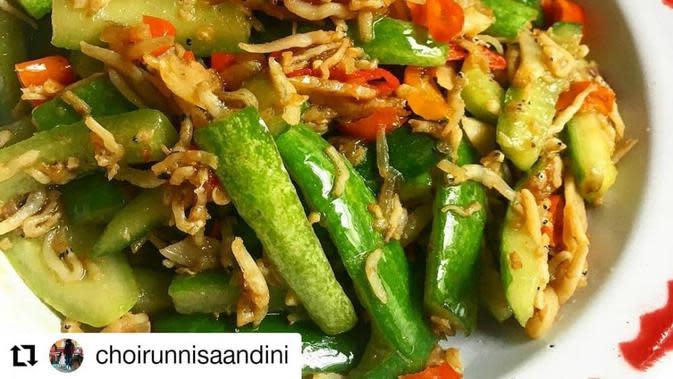 ilustrasi resep oseng timun teri/instagram: @kumpulanresepmasak