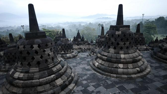 Candi Borobudur (AFP Photo/Goh Chai Hin)