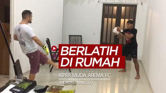VIDEO: Cara Latihan Refleks Kiper Muda Arema FC, Andriyas Francisco di Dalam Rumah