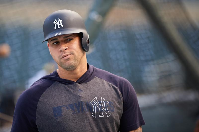 Gary Sanchez is headed to the IL with a groin strain. (Photo by Hannah Foslien/Getty Images)