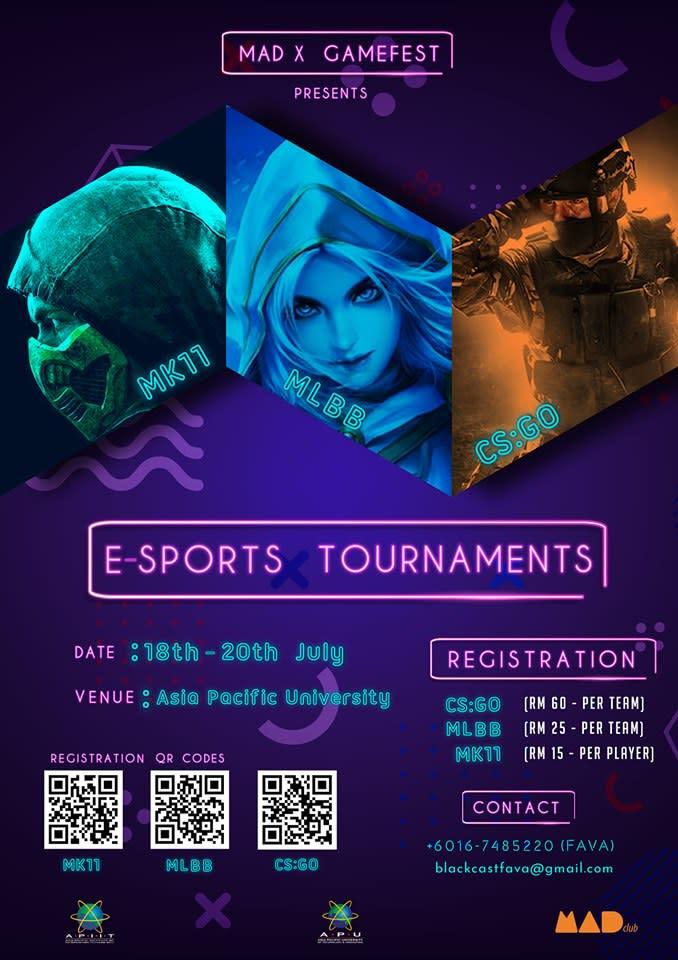 Mad X Gamefest E-Sports Tournament