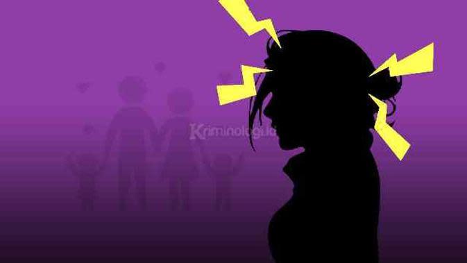 Ilustrasi ibu muda labil hadapi masalah keluarga. Ilustrasi: Dwiangga Perwira/Kriminologi.id