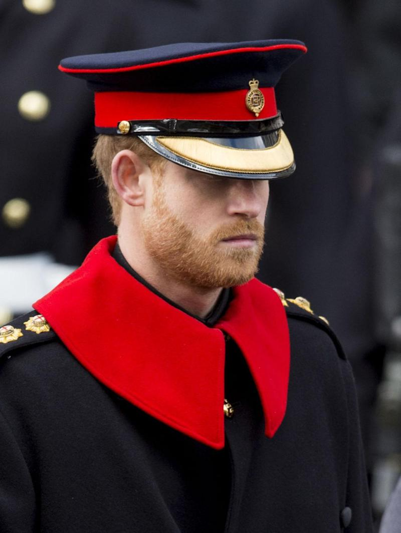 Prince Harry broke a major royal rule when he appeared at Remembrance Day. Photo: Getty Images