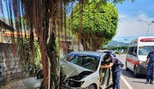 台9線花蓮鳳林段轎車自撞路樹 車頭凹陷變形2死2傷