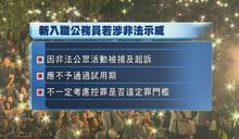 新入職公務員若涉反政府非法示威 不予通過試用期