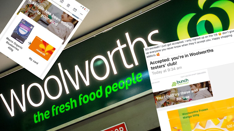 Join this exclusive club to get free samples from Woolworths. Images: Facebook, Woolworths