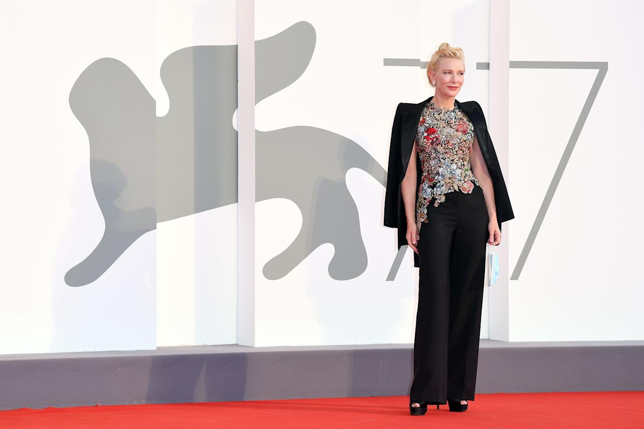 """<p>Venice is known by many names: La Dominante, the City of Water, the City of Bridges. But the City of Masks is the moniker that attendees at the 77th Venice Film Festival really took to heart this year. Following the display at the <a href=""""https://www.harpersbazaar.com/celebrity/red-carpet-dresses/g33844125/lady-gaga-2020-vma-outfits/"""" target=""""_blank"""">2020 Video Music Awards</a>, some of the leading figures in Hollywood and fashion—from Cate Blanchett and Tilda Swinton to Roberta Armani and Taylor Hill—donned protective face coverings with their fanciful frocks and breathtaking jewels, enforcing the accessory's importance amid the ongoing global COVID-19 pandemic. Indeed, they gave whole new meaning to masquerade. Ahead, we round up some of the best looks on the red carpet. </p>"""