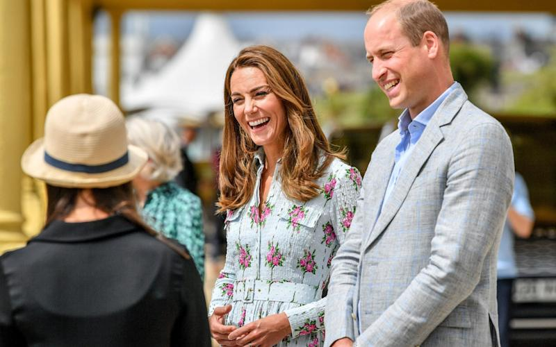 The Duke and Duchess of Cambridge speak to local business owners - Ben Birchall/PA