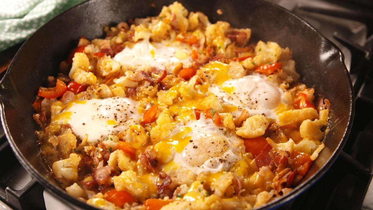"<p>A low carb hash worth making!</p><p>Get the <a href=""https://www.delish.com/uk/cooking/recipes/a29651496/low-carb-breakfast-hash-recipe/"" target=""_blank"">Low Carb Breakfast Hash</a> recipe. </p>"