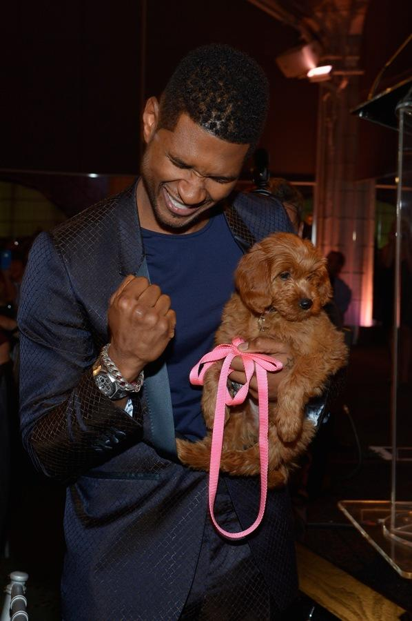 Usher Buys $12k Puppy At Charity Gala, Donates Private Dance Lessons