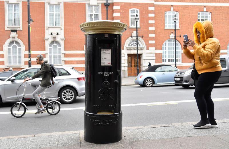 Paint it black: UK postboxes change colour to honour Black Britons