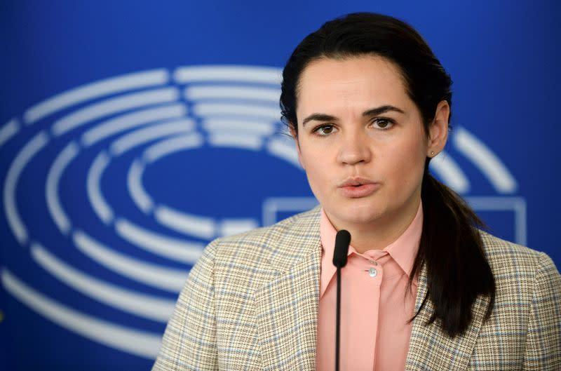EU sanctions 'a small victory': Belarusian opposition leader Tsikhanouskaya