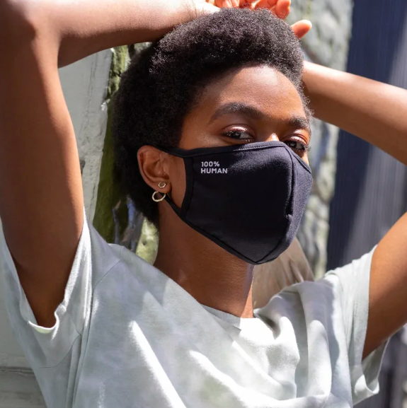 Everlane's 100% Human face masks give back to an important cause.