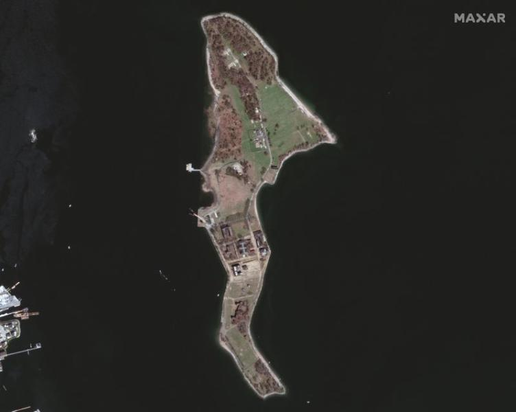 A satellite image shows New York's Hart Island