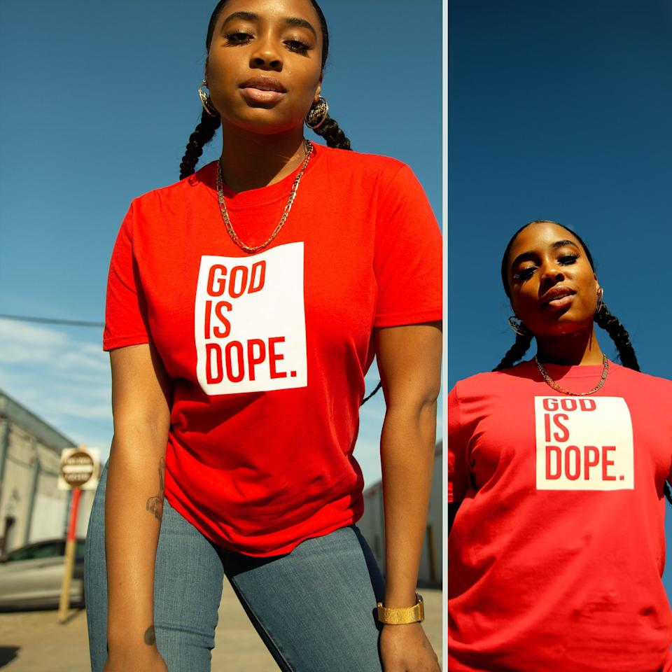 "<p><strong></strong></p><p>godisdope.com</p><p><strong>$9.99</strong></p><p><a href=""https://www.godisdope.com/collections/best-selling/products/red-white-box-logo-v2-tee"" target=""_blank"">Shop Now</a></p><p>Know a graduate that isn't afraid to share their love for God? This t-shirt will help them show it. </p>"