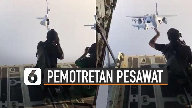 VIDEO: Keren, Ini Dia Pemotretan Formasi Pesawat Tempur