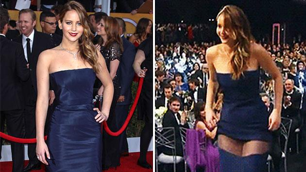 Jennifer Lawrence's mysterious wardrobe malfunction, examined