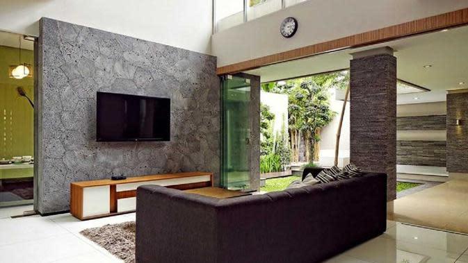 Desain rumah dengan bukaan luas karya Hbarsitekplus yang sederhana namun megah. (dok. Arsitag.com)