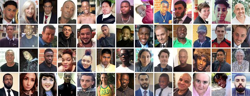 Some of London's 100 murder victims