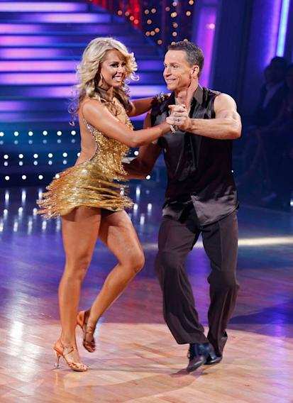 "Ty Murray and Chelsie Hightower perform the Salsa to ""Vehicle"" by The Ides of March on ""Dancing with the Stars."""