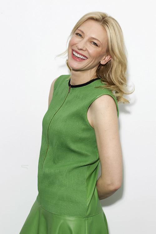 "This July 23, 2013 photo shows Australian actress Cate Blanchett, star of the Woody Allen film, ""Blue Jasmine,"" in New York. The film opens nationwide on July 26. (Photo by Victoria Will/Invision/AP)"