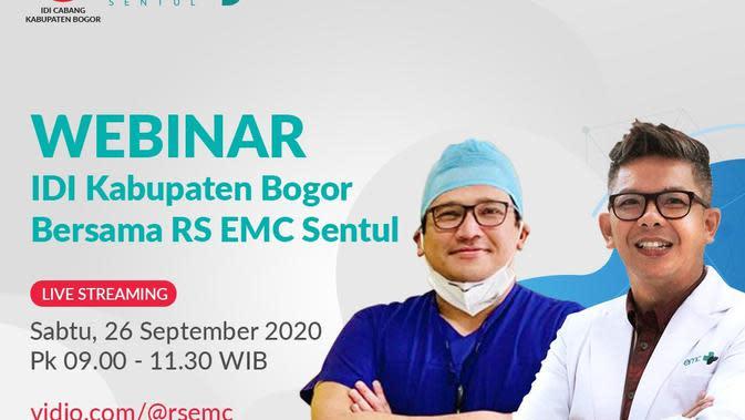Saksikan Webinar Bersama IDI Kabupaten Bogor dan RS EMC Sentul di Vidio, Sabtu Pagi Ini