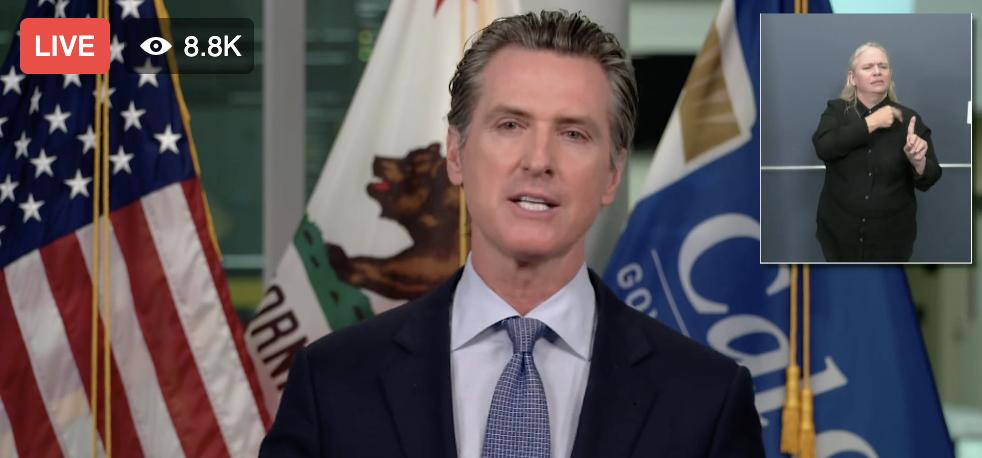 "California Coronavirus Update: Governor Gavin Newsom Says 33 Million Californians Live In Counties Now On State ""Watch List"""