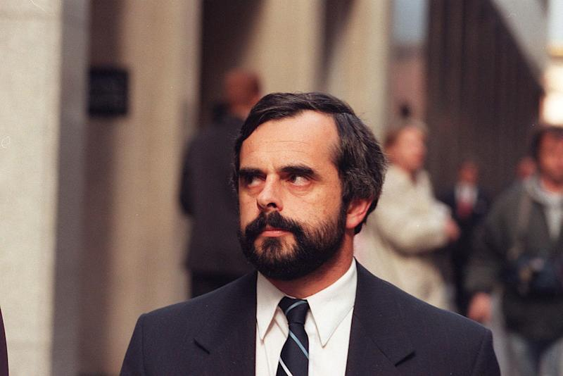Wayne De Gruchy, father of Matthew, leaves the Supreme Court, 3 July 1996. Source: Jim Rice via Getty Images