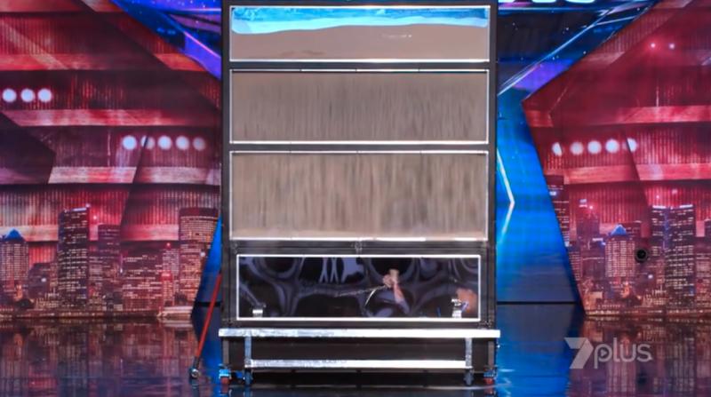 Demian appeared on Australia's Got Talent with a sandbox escape last night. Photo: Seven