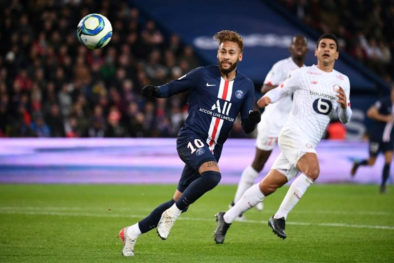 Neymar in action in Paris Saint-Germain's 2-0 win over Lille on Friday
