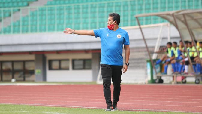 Pelatih Timnas Indonesia U-16 Bima Sakti. (Dok PSSI)