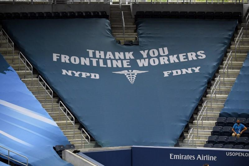 'Black Lives Matter' banners swapped out as U.S. Open honors 'frontline workers,' NYPD