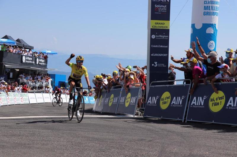 Primoz Roglic wins stage 3 of the Tour de l'Ain