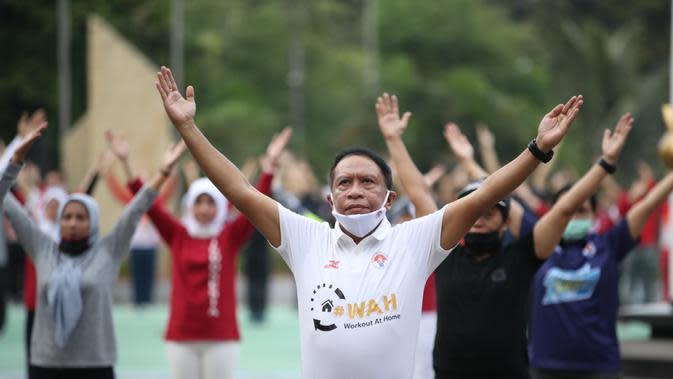 Menpora Zainudin Amali mengusung program WAH untuk mengajak masyarakat aktif berolahraga di tengah pandemi Covid-19. (Foto: Kemenpora)