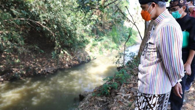 Gubernur Jawa Tengah Sidak ke Sungai Bengawan Solo